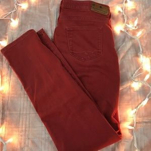 Madison Scotch La Parisienne Red/Orange Jeans W29